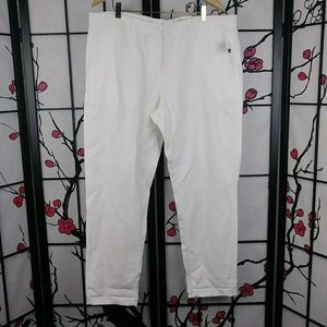 NEW Khakis by GAP White Linen Flax Straight Pants